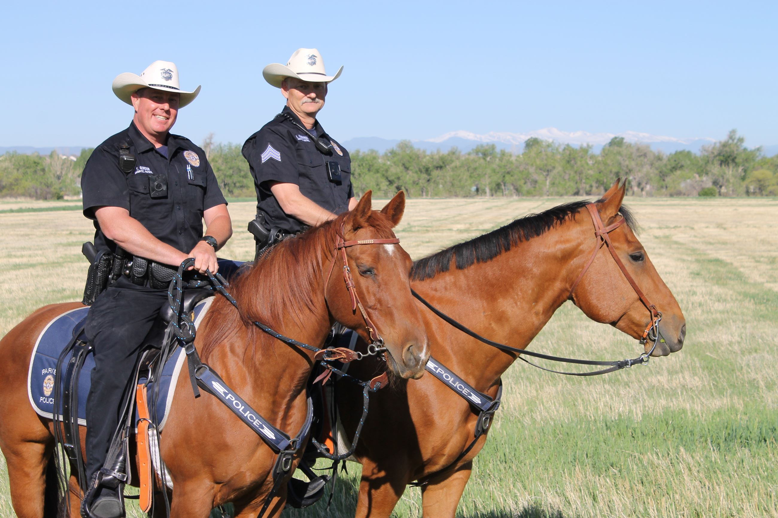 Sergeant Joe Cummings and Officer Troy Gordon on their horses