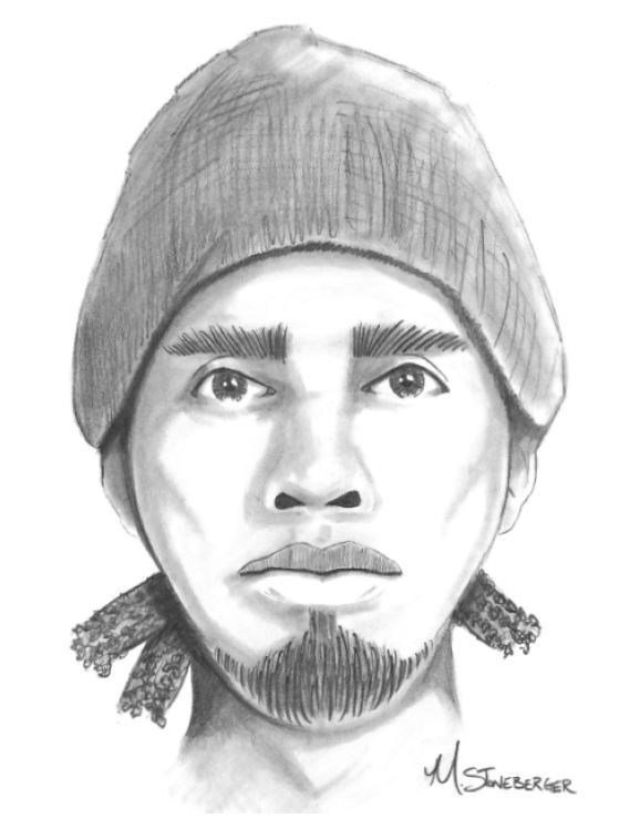 Sketch of Suspect from Home Invasion