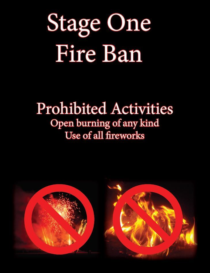 fire ban with fireworks flyer