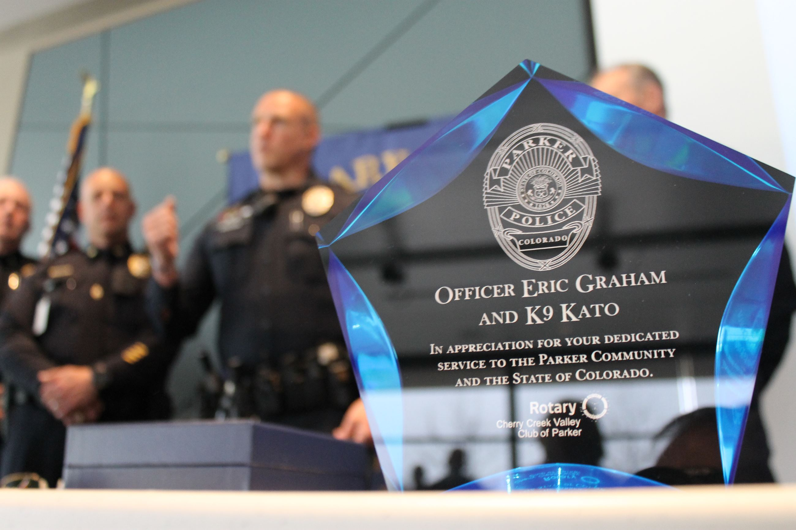 Officer of the Year award trophy